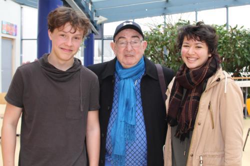von links: Jan (9a), Yosef Aron, Mariah (10c)