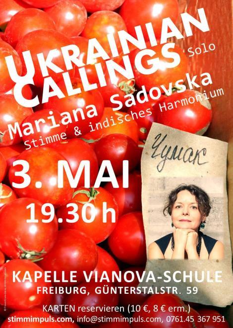 Konzert Mariana Sadovska, 3. Mai 2018