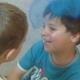 Kinder entwickeln eigene Choreographie zu einer Gitarrenimprovisation
