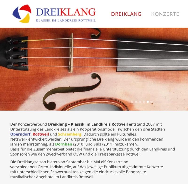 """Konzertreihe """"Dreiklang"""" im Landkreis Rottweil"""