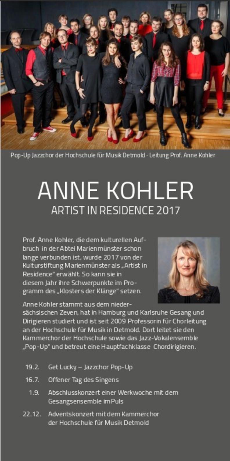 Anne Kohler ist Jahreskünstlerin der Kulturstifung Marienmünster