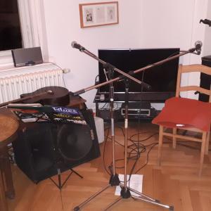 unser erstes Wohnzimmerkonzert am 22.11. in Weimar...auch du kannst Saul & Micha für zu Hause buchen
