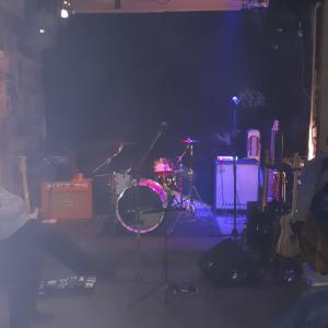 Bühne schön vernebelt
