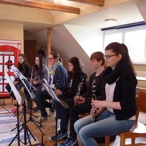 Teilnehmer am Klarinettenkurs des Nordbayerischen Musikbundes am 19.03. 2016 in Rehau