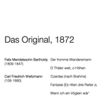 Das Original, 1872