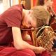 Proben-Auszeit im Orchester (Foto: Nele Tröger)