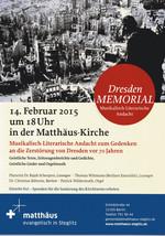 Plakat DresedenMEMORIAL
