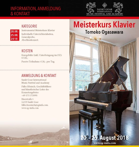 Meisterkurs Sommer 2018