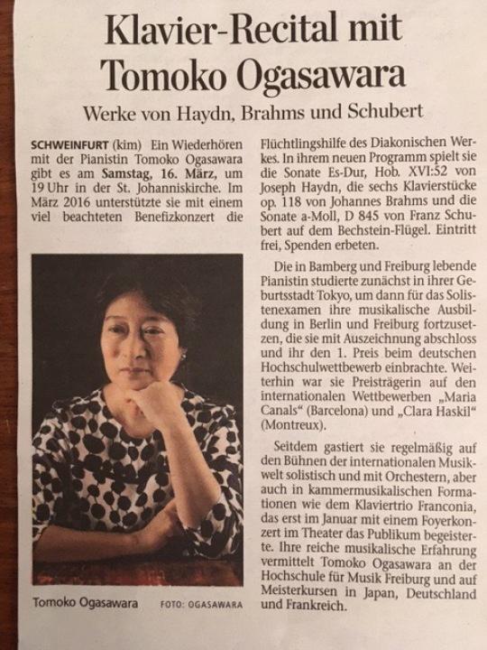 Piano Recital /Schweinfurt 16.03