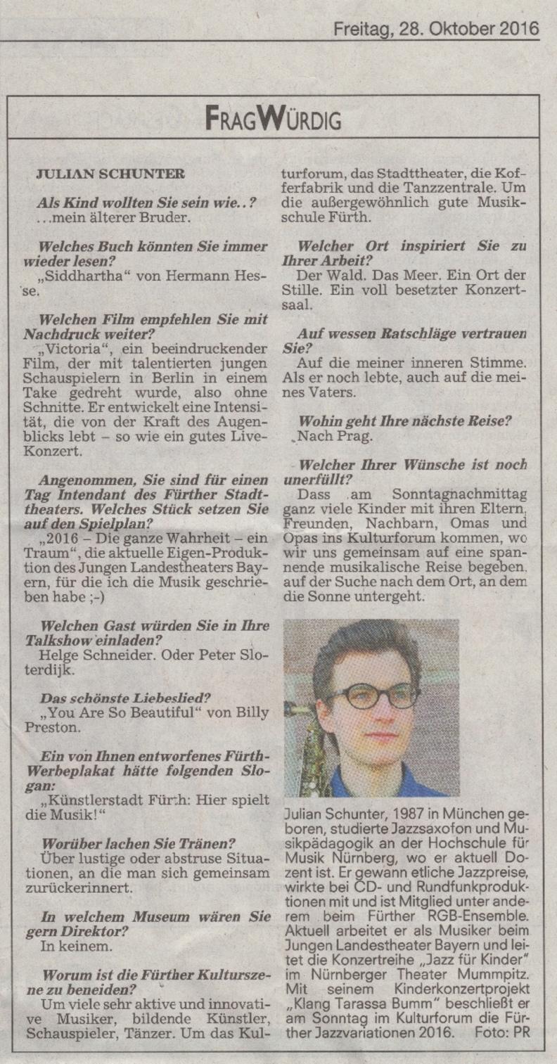 FragWürdig. Interview mit Julian Schunter.