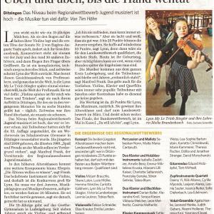 Stuttgarter Zeitung 1. Februar 2016