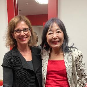 Mit Mayako Kubo nach der Uraufführung von ALUSRURSULA. September 2021 in München