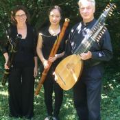 Mit dem Leiter des Arcadia-Ensembles Christian Zimmermann und Anna Zimmermann