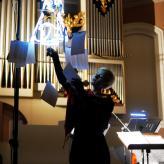"""Ensemble Megaphon Projekt """"Schlaflose Liebe"""" Hannover 2019, Foto: Joachim Puppel"""