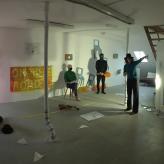 "Proben zu ""On The Road"" Ensemble Megaphon 2020, LortzingART Galerie Hannover"