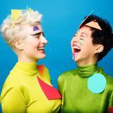 Sophia Körber & Yun Qi Wong in Vorbereitung auf ihre CD-Produktion, Fotograf: Rüdiger Schestag, Make-up: Nicole Eck Berlin 2021