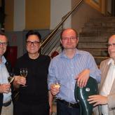mit dem Cellisten Wolfgang Panhofer in St. Florian mit Bürgermeister Zeitlinger und Stadtrat Luger