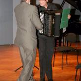 mit dem Komponisten Zdzislaw Wysocki