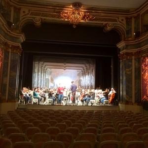 Probe mit der Württembergischen Philharmonie Reutlingen und Lukasz Borowicz im Rokokotheater Schwetzingen(10.12.16)