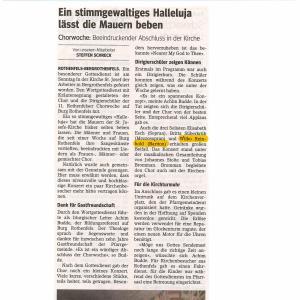 2018 - Konzert im Rahmen der 11. Rothenfelser Chorwoche