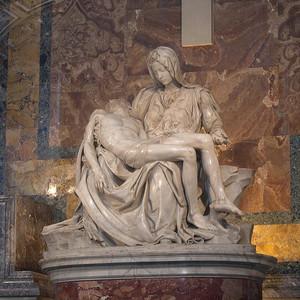 Michelangelo, Pietà (zum Vergrößern bitte klicken)