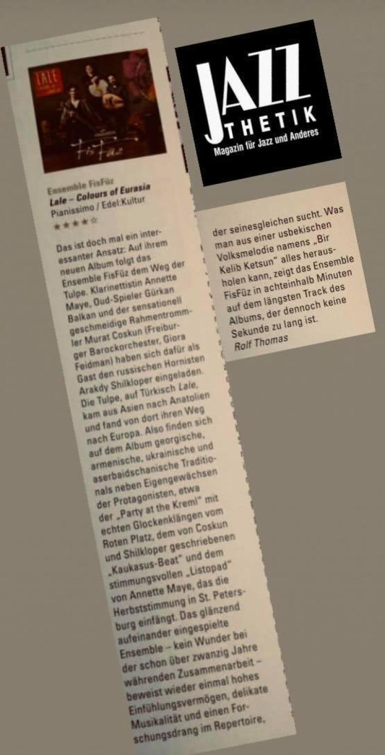 JAZZ THETIK - Magazin für Jazz und Anderes (Jan/Feb 2020)