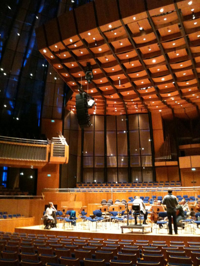 Probe in der Tonhalle Düsseldorf