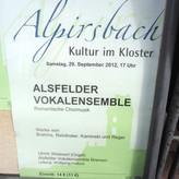Ankündigung für das AV-Konzert im Kloster Alpirsbach