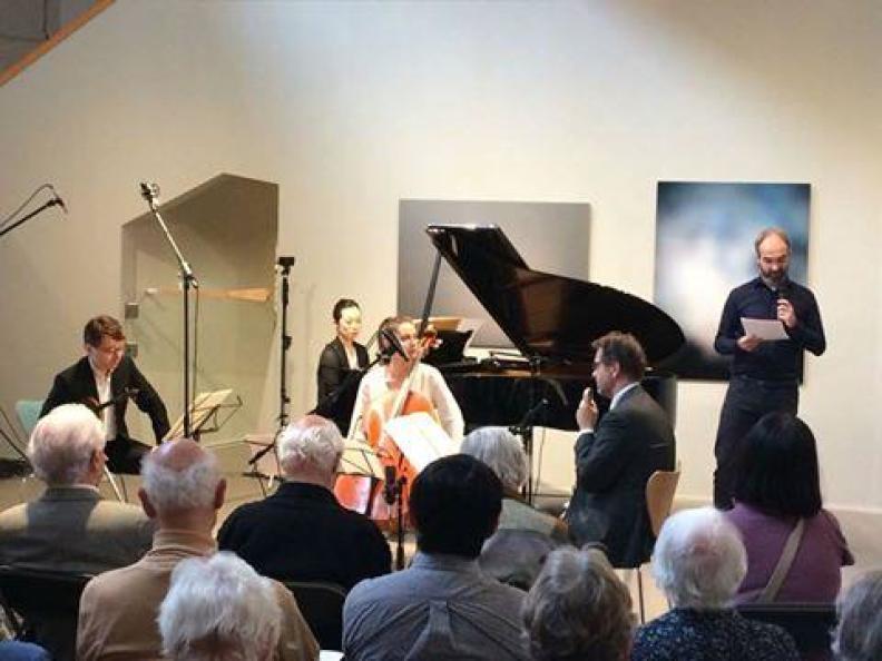 Messiaen Ensemble Sergei Bolotny violin Keiko Sakuma piano Joost van Rheden Noelle Weidman cello Museum Buitenplats 8.10.2017 foto Museum Buitenplats
