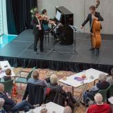 NNO piano trio Sergei Bolotny violin Sven Sven Otte double bass Keiko Sakuma piano foto Cultureel Centrum Zuidhorn