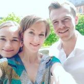 Proben mit Anna Anstett und Marcel Brunner an der Musikhochschule Karlsruhe, Schloss Gottesaue 2018