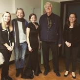 Nach dem Master-Abschluss mit Anna Anstett, Corinna Korff, Prof. Rudolf Piernay und Mihaela Tomi, November 2018
