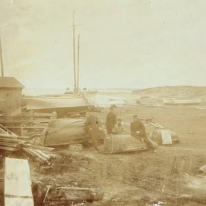 Seit 1878 betrieb mein Urgroßvater Hans Christian Thomsen die kleine Werft am Hafen Munkmarsch/Sylt (Foto: Sammlung Wilhelm Borstelmann)