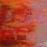 Das rote Bild 1,10x1,10 Öl/Leinw.