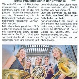13.11.2014 Ankündigung Amtsblatt Hardheim