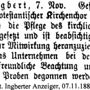 Der Zeitungsbericht zur Gründung