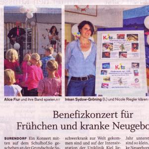 Eckernförder Zeitung Benefizkonzert