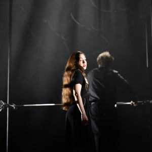 """As Soprano in J. S. Bach´s """"Matthäus-Passion"""" (Hessisches Staatstheater Wiesbaden). Photo by Karl and Monica Forster."""