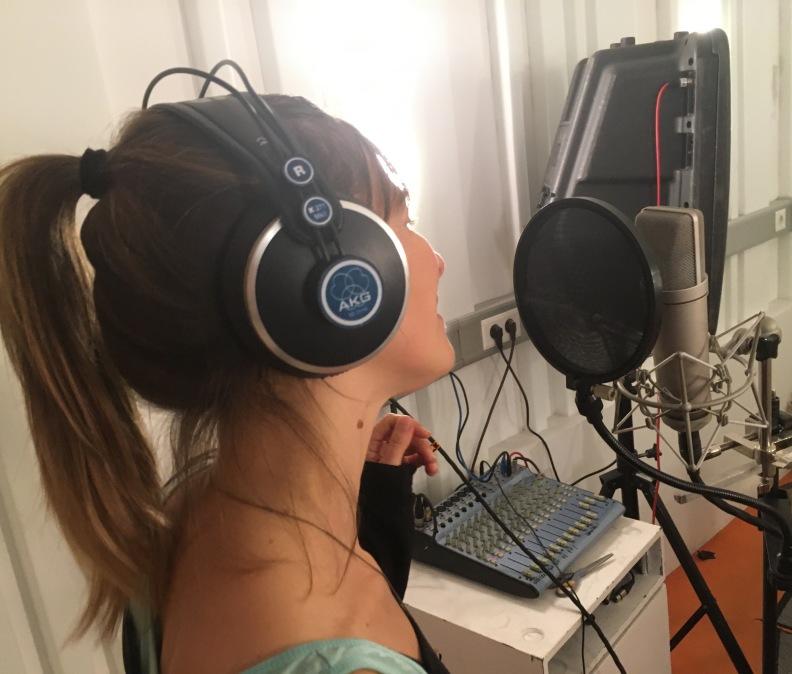 Aufnahmen im Tonstudio
