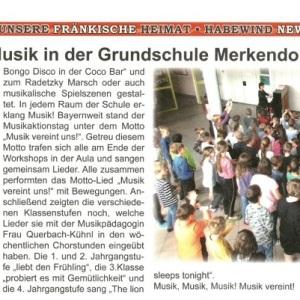 Habewind News, Ausgabe 334-2019 - Musikschule in der Grundschule Merkendorf