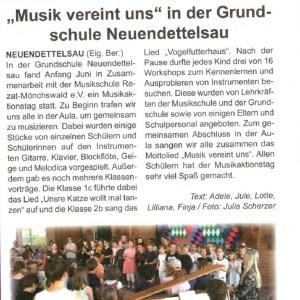 Habewind News, Ausgabe 334-2019 - Musikschule in der Grundschule Neuendettelsau
